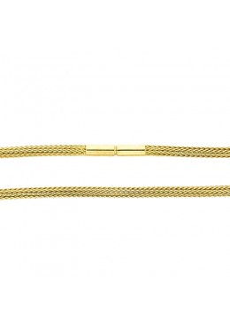 Geflechtkette in Gold, 3 mm
